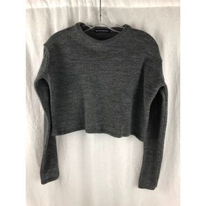 BRANDY MELVILLE Grey Knit Sweater Crop Top